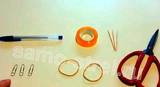 Материалы для изготовления арбалета из скрепок