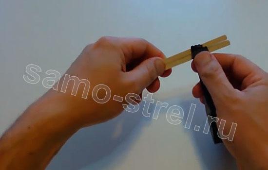 Сделайте из китайских палочек основание арбалета