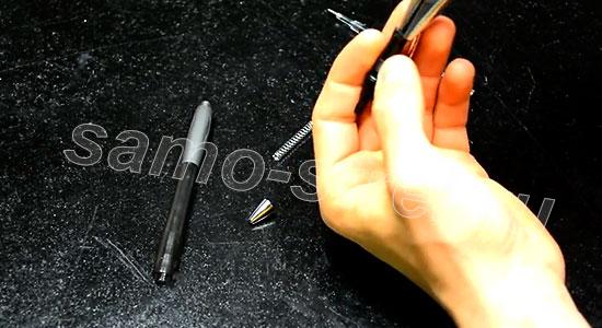 Как сделать самострел из ручки - Плоскогубцами загните края