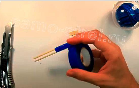 Мини рогатка - Обмотайте ручку изолентой