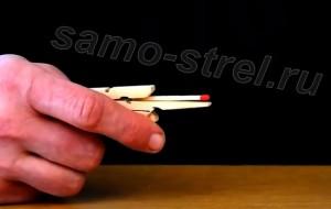 Спичкострел из прищепки видео
