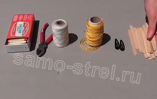 Материалы для изготовления арбалета из заколок