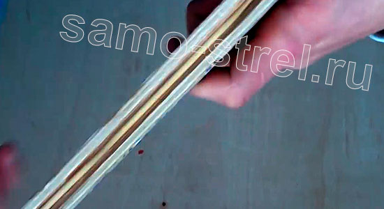 Как сделать пистолет - арбалет - Желоб для стрелы