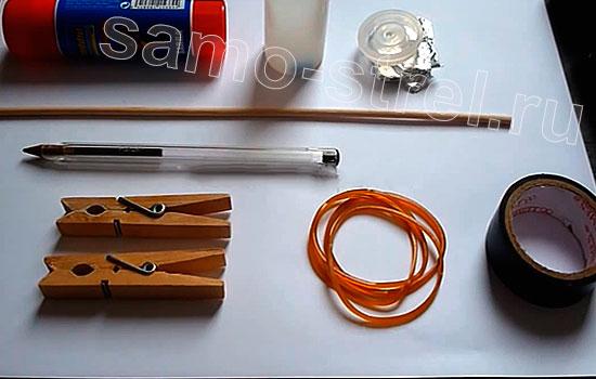 Материалы для изготовления самострела из бумаги