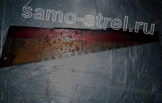 Как сделать мощный мини арбалет - Полотно ножовки для лука