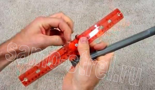 Арбалет из ПВХ трубы - Сделайте насечку для стрел