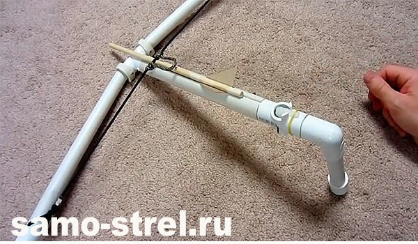 Арбалет из ПВХ трубы и деревянная стрела
