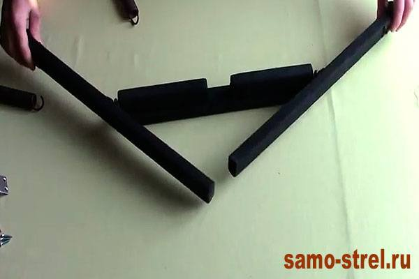 Как сделать блочный лук - Прикрутите плечи лука (how to make the compound bow )