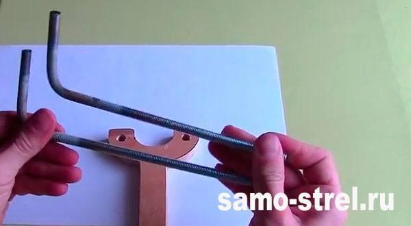 Рогатка для стрел - Согните шпильки как на фото