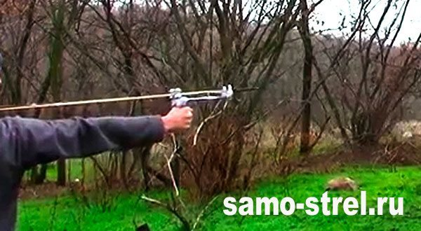 Рогатка, стреляющая стрелами